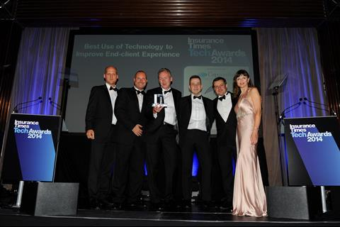 TechAwards 2014 Best Use of Technology to improve End Client Experience